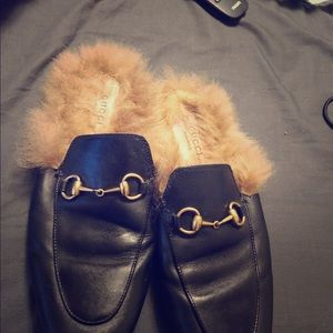 Classic Gucci Fur Loafers